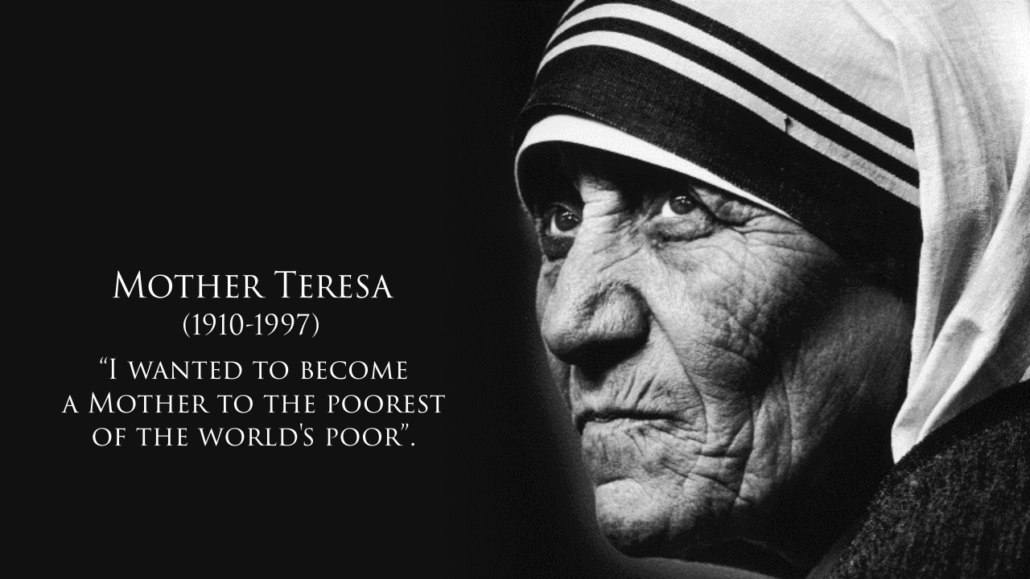 mother teresa leadership Yan, your selection of mother teresa for servant leadership was spot on she epitomized all that was pure in life, not just by the words she spoke, but also by the actions she took.